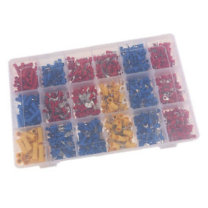 1200pcs T tap male Insulated Wire Quick Splice Terminal Connectors Box Kit
