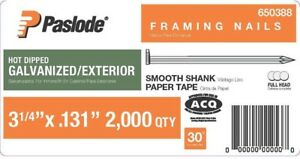 Paslode Collated Framing Nails 3 1 4 In X 0 131 gauge Steel 2 000 Per Box