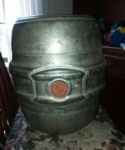 Vtg Anheuser Busch Empty Beer Keg Stainless Steel 7 5 Gallon 1 4 Barrel St Louis