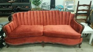Victorian Or Vintage Sofa Warm Tomato Red