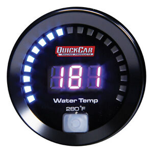 Quickcar Racing Products Digital Water Temp Gauge 100 280 P n 67 006