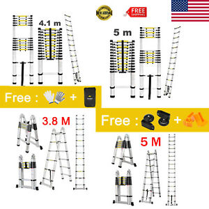 3 8 4 1 5m Telescopic Ladder Aluminum Fodable Multi purpose Extension Heavy Duty