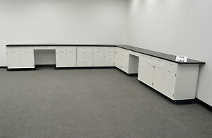 28 Hamilton Base Laboratory Cabinets With Counter Tops Stock Number Pa4l358