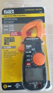 New Klein Tools Cl2200 600a Ac Dc True Rms Clamp Meter Pro Series