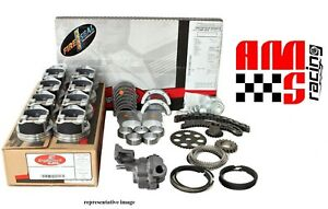 Rebuild Overhaul Kit For Chevy 5 7l 5 7 350 V8 Flat Top Pistons Dbl Roller Chain