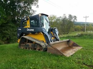 2015 John Deere 329e Compact Rubber Tracked Skid Loader Quick Coupler Machine