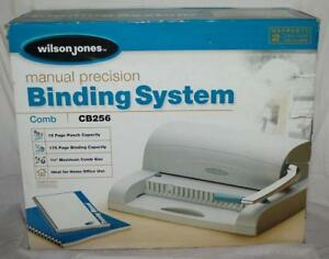 Wilson Jones Cb256 Manual Comb Binding Binder System With Spindles