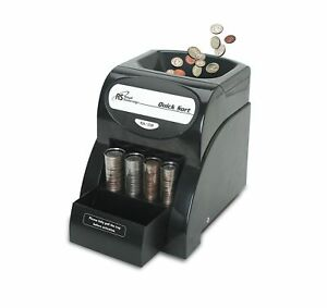 Quick Coin Sorter Money Counter Machine Change Sort Count Wrapper Business 1 row