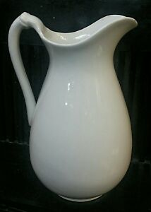 England Ironstone Large Pitcher 13 Antique Tall Hallmark Extra Quality
