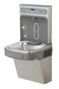 Elkay Ez H2o Drinking Fountain Lzs8wsvrsk Lustrous Satin stainless Steel