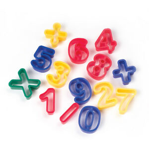 6 Ea Dough Cutters Numbers