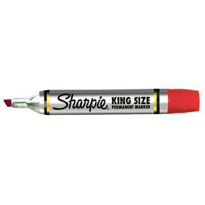12 Ea Sharpie King Size Permanent Marker Red
