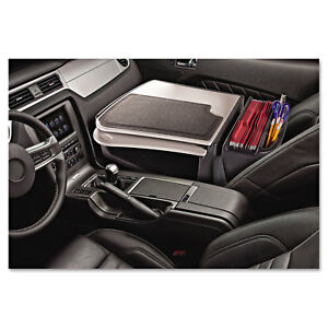 Gripmaster 01 Auto Desk W retractable Writing Surface Supply Organizer Gray
