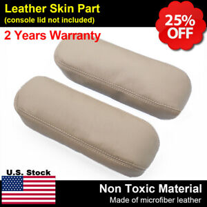 2pcs Leather Seat Armrest Cover For Ford F250 F350 Excursion Lariat 99 07 Tan