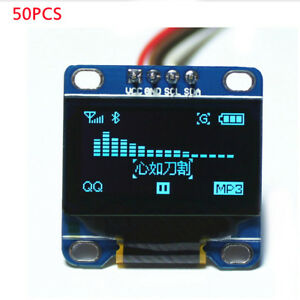 50pcs0 96 Blue I2c Iic Serial 128x64 Oled Lcd Display Module For Arduino Scr 51
