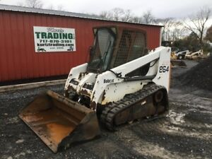 2001 Bobcat 864 Tracked Skid Steer Loader W Cab New Tracks