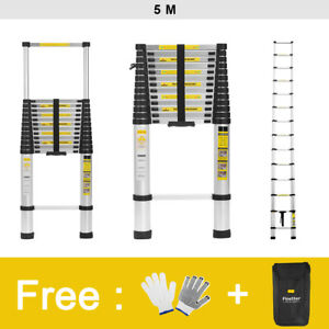 3 8m 4 1m 5m Aluminum Multi Purpose Telescopic Ladder Extension Foldable Steps