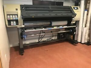 used Hp Designjet L25500 Wide Format Latex Printer 63 Inch Laminator