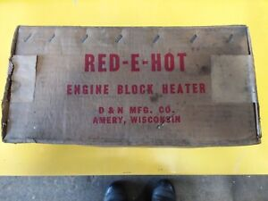 Red E Hot Engine Block Heater Propane Fired Antique Water Heater