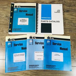 International 574 Gas Tractor Service Repair Shop Manual Parts Catalog Set