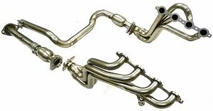 Max Long Tube Header W Cat Fit 00 05 Chevy Hummer H 2 Silverado Gmc 2500 6 0l