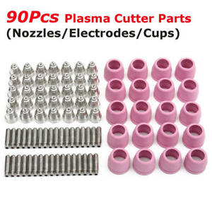 90 Pcs Tips Consumables Fit 60a Lotos Plasma Cutter Ltp5000d Ltpdc2000 Ltpac2500