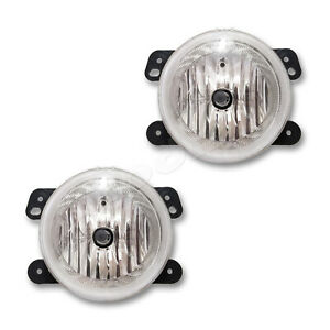 Fits 2010 2016 Dodge Jeep Driver Passenger Fog Light Lamp Assembly 1 Pair
