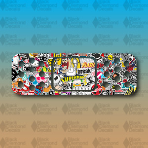 Band Aid Sticker Bomb Dent Cover Funny 6 Euro Custom Vinyl Decal Sticker Jdm