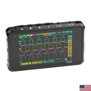 New Portable 4 ch Usb Digital Oscilloscope Arm Pocket M3 Cpu 8m Hz Handheld Tft