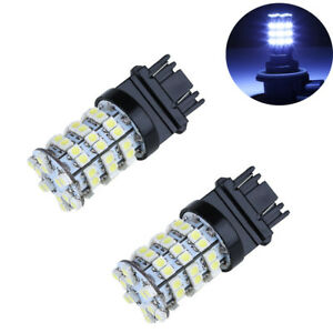 2pcs White 3157 60smd Drl 3157a 4114 4157na Daytime Running Led Light Bulbs 12v