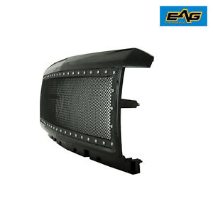 15 18 Chevy Silverado 2500 3500 Rivet Grille All Black Ss Wire Mesh Packaged