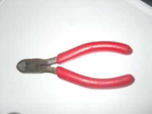 Snap On 85bcp 5 Diagonal Side Cutting Pliers Red Vinyl Grip Usa