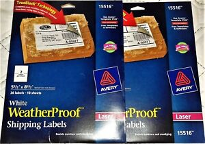 100 Avery Weatherproof White Laser Labels 5 5 X 8 5 New 5 Packs Free Shipping