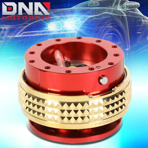 Nrg Srk 210rd cg Steering Wheel Quick Release Adapter 2 1 Red gold Pyramid Ring