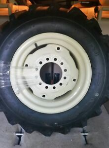 New 6 00 14 6ply Deestone Tractor Lug Tire Mounted On Rim