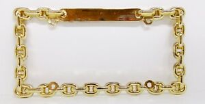 Gold Color Chain Link License Plate Frame By Superior Qty 1