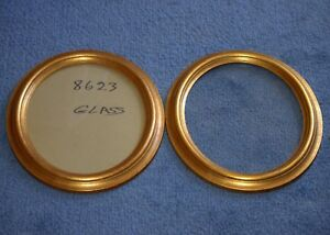 A Pair Of Vintage Oval Gold Wood Wooden Picture Frames 8 X 10