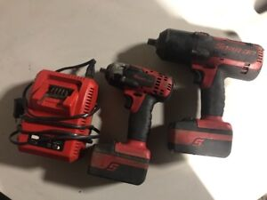 Snap on Monster 18v 1 2 Ct7850 3 8 Ct8810 Cordless Lithium Impact
