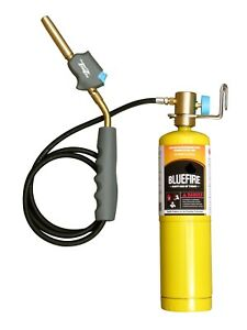 Mr torch Self igniting Gas Welding Torch w 3 Hose Kit w Mapp Cylinder propane