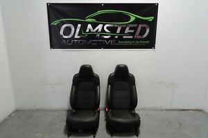 06 13 C6 Corvette Centennial Suede Seats Assembly Heated Black Red Leather Power