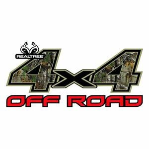 4x4 Off Road Contour Cut Decal In Realtree Xtra Blaze Camo Size 625in X 1325in