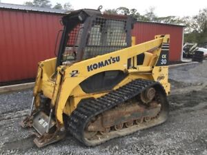 2008 Komatsu Ck30 1 Tracked Skid Steer Loader Need Engine