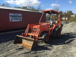 1999 Kubota L35 4x4 Compact Tractor Loader Backhoe Only 1300hrs