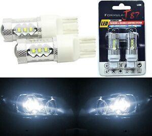 Led Light 80w 7440 White 5000k Two Bulbs Back Up Reverse Replace Plug Play