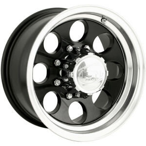 16x8 Black Alloy Ion Style 171 6x5 5 5 Rims Toyo Open Country At Ii 225 75 16