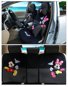 2018new Mickey Minnie Mouse Car Seat Covers Cushion Accessories 18pcs 803 Plush