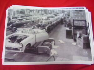 1956 Ford Thunderbird Assembly Line 11 X 17 Photo Picture