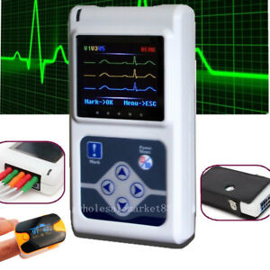 3 channel Ecg Ekg Holter System recorder Heart Monitor Sleep 2018 Software Gift