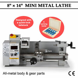 650w Automatic Mini Lathe Machine Metal Turning Metal Wood Drilling 8 x 14