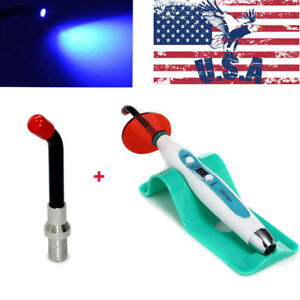 Us Dental New 5w Wired Wireless Charging Led Curing Light Lamp 2000mw Extra Tip
